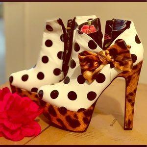 Polka Dot Animal Print Heels